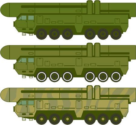 cold war: Military missile machine war instrument vector image Illustration