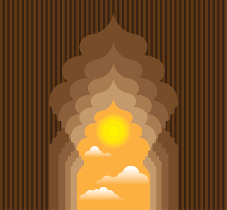 night vision: Passage to the sun original vector clip-art file