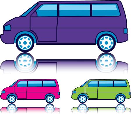 passanger: Travel Van vector illustration clip-art