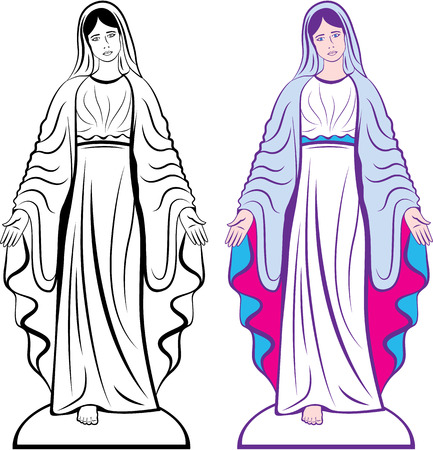 Godmother catholic sculpture vector clip-art image