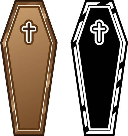 wooden casket Standard-Bild - 133226832