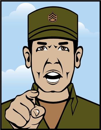Taladro del archivo de clip-arte original sargento