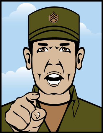 Drill Sergeant original vector file clip-art