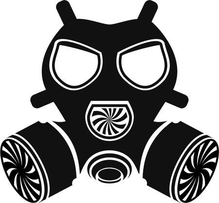 Máscara de gas archivo vectorial negro simple Foto de archivo - 68044045