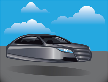 hover: Hover car unique vector illustration clip-art