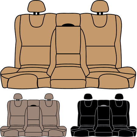 Back seat car isolated vector image