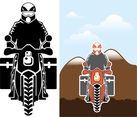 Motorcycle travel vector image clip-art