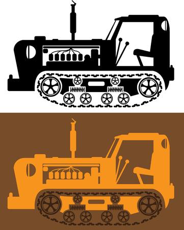 Vintage tractor vector illustration clip-art