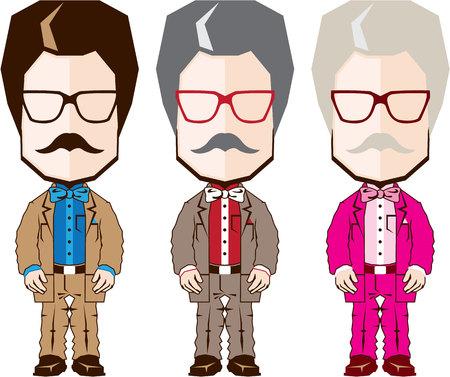 Big head professor vector illustration clip-art image