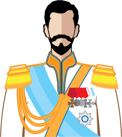 czar: Russian Czar vector illustration clip-art image