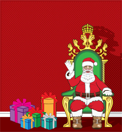 Santa Claus in the chair sitting vector illustration clip-art