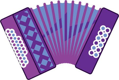 Accordion vector illustration clip-art image