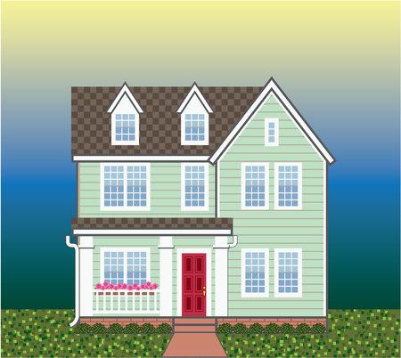 House vector illustration clip-art image file