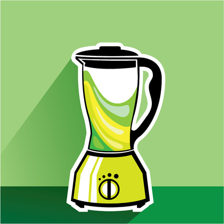 Green blender vector illustration clip-art image