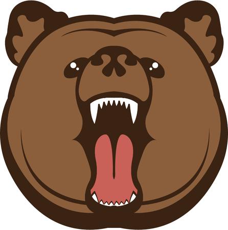 growling: Bear roar vector clip-art image