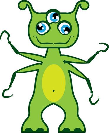 freaky: Monster vector illustration clip-art image