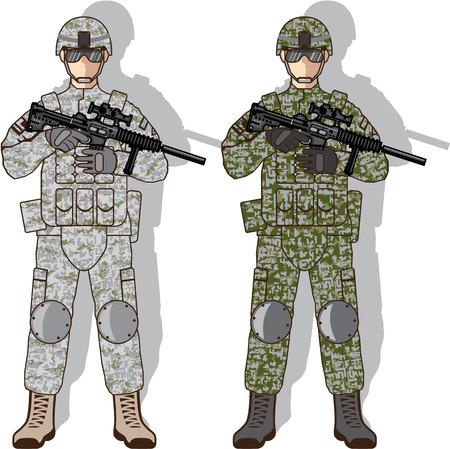 Battle soldier vector illustration clip-art image Illustration