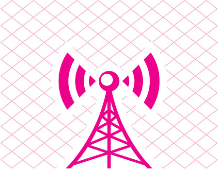 Cell tower icon vector eps image clip-art Illustration