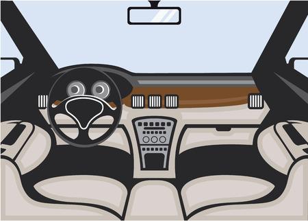 Car interior vector image illustration clip-art