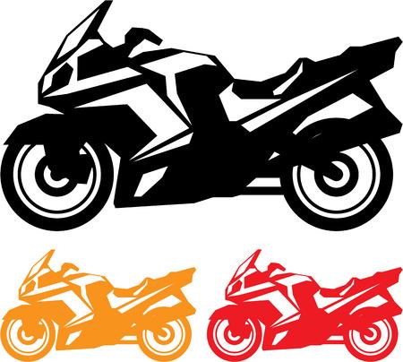 Travel motorcycle vector illustration clip-art image 向量圖像