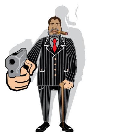 Mob boss vector illustration clip-art image
