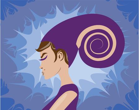 Crystal shell vector illustration clip-art image