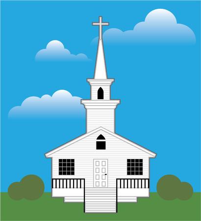 Church color simple illustration clip-art vector Illustration