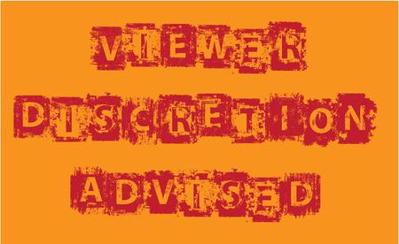 viewer: Viewer Discretion Advised Grunge vector