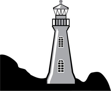 Light house vector illustration clip-art Vectores