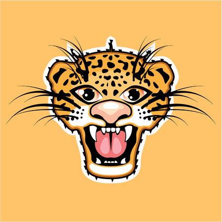 cheetah cub: Jaguar cartoon vector illustration image