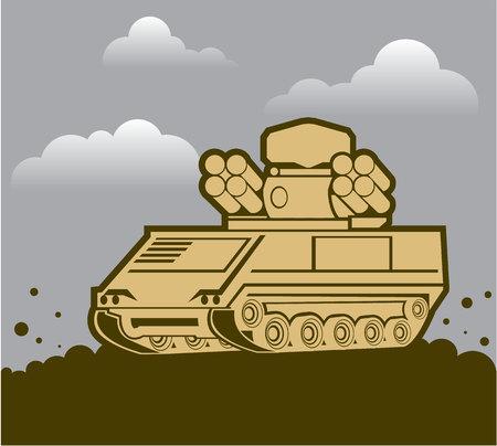 抗空気防衛兵器軍用車両イメージ