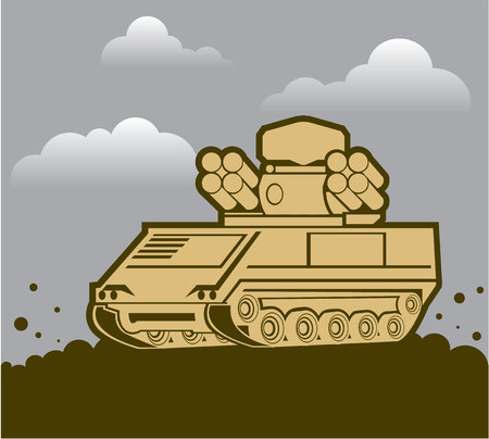 Anti air defence weapon military vehicle image