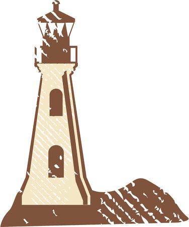Grunge light house vector illustration clip-art image