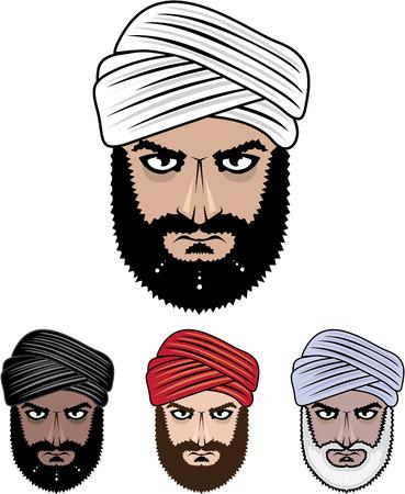Arabische moslemische männlich Vektor-Bild eps