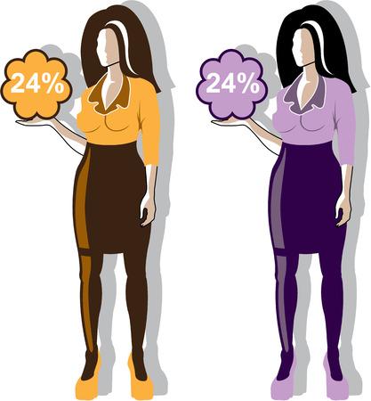 Secretary vector illustration clip-art image