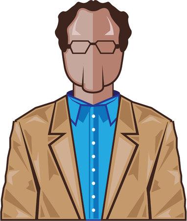 smart man: Smart man vector icon illustration clip-art image
