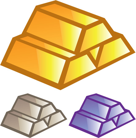 Precious metal Gold and other Illustration clip-art image
