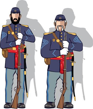 Vintage soldier vector illustration clip-art image Illustration