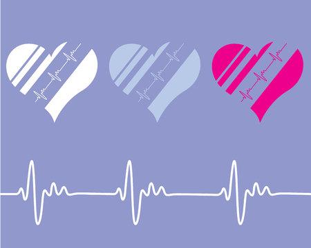 Heart rate illustration clip-art eps image