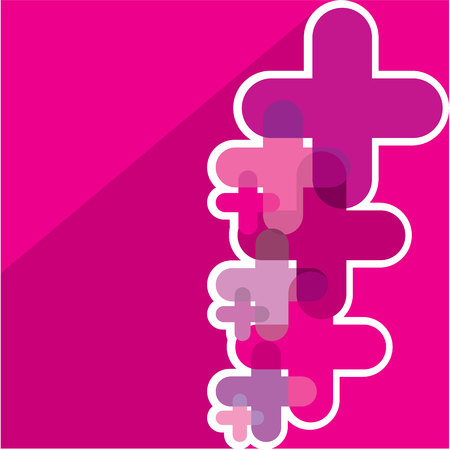 crosses: Plusses crosses vector background image