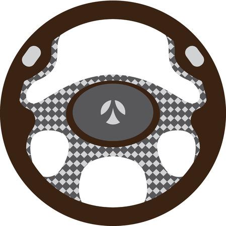 Steering wheel vector clip-art image