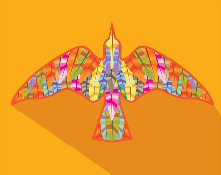 Feather bird vector illustration clip-art image