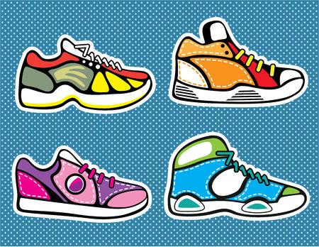 Sneakers vector illustration pop art clip-art image