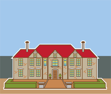 Mansion vector illustration clip-art eps file image Illustration