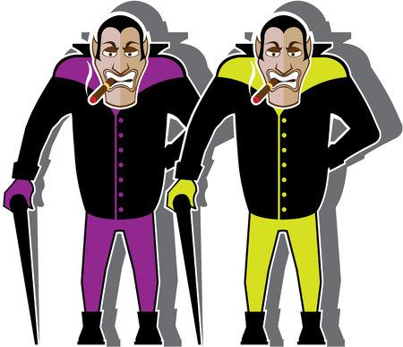 Dracula vector image illustration clip-art eps file