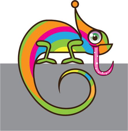chamelion: Chameleon vector illustration clip-art image