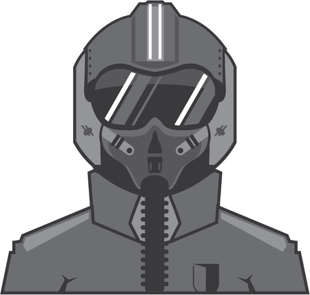 Fighter pilot vector illustration clip-art eps