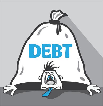 Debt pressure vector illustration clip-art image 向量圖像