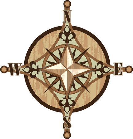 compass rose: Compass vector illustration clip-art image