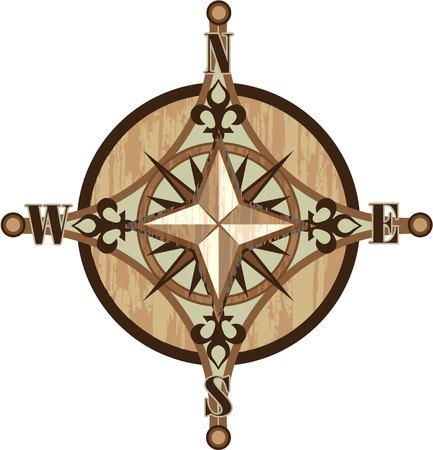 Compass vector illustration clip-art image
